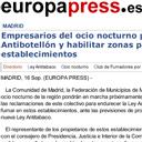 1609010 EP Los empresarios GRANADOS botellon-porteros-ley espect