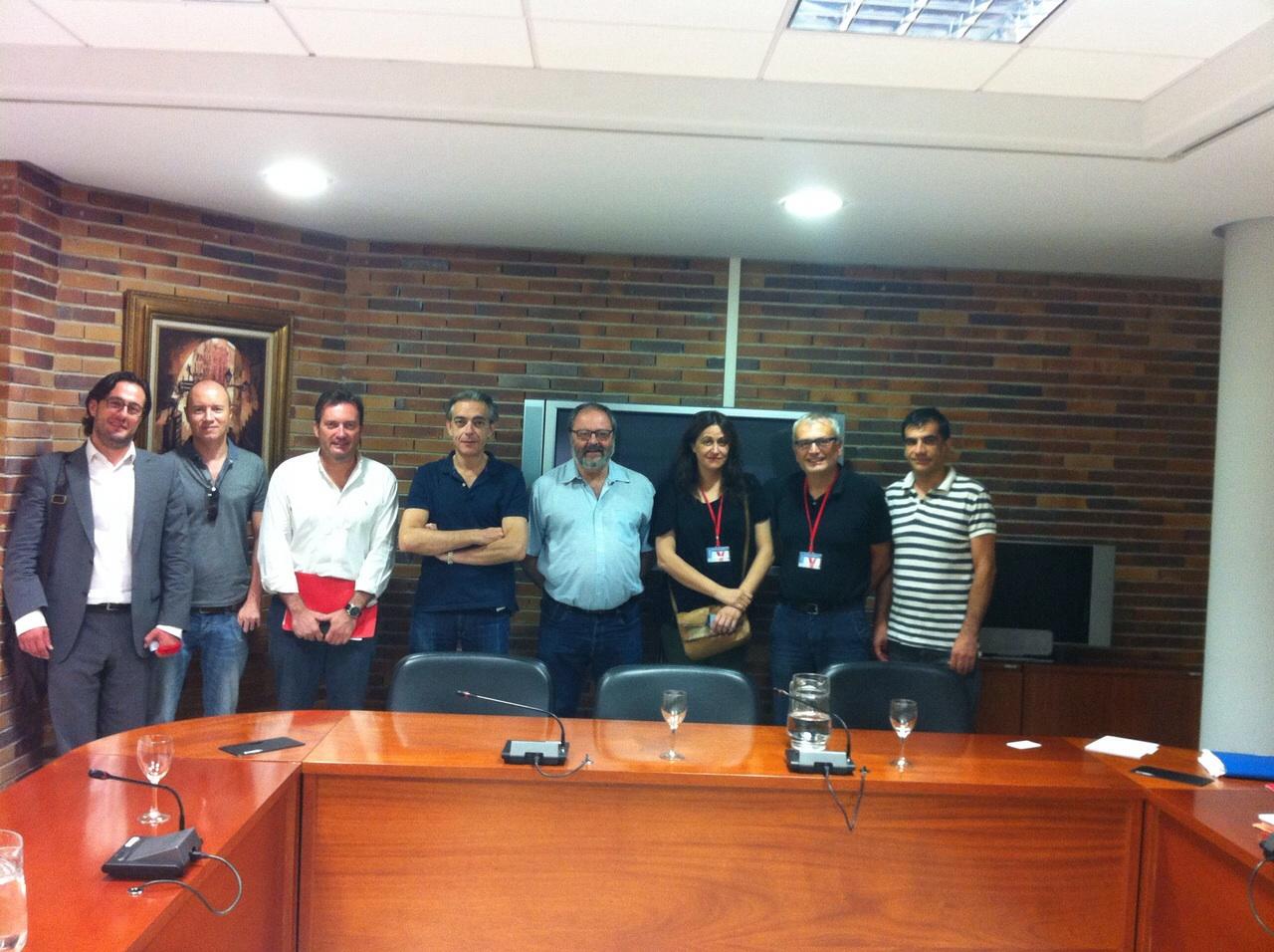 Miembros Plataforma y José Javier Barbero Gutiérrez. Delegado del Área de Gobierno de Salud, Seguridad y Emergencias