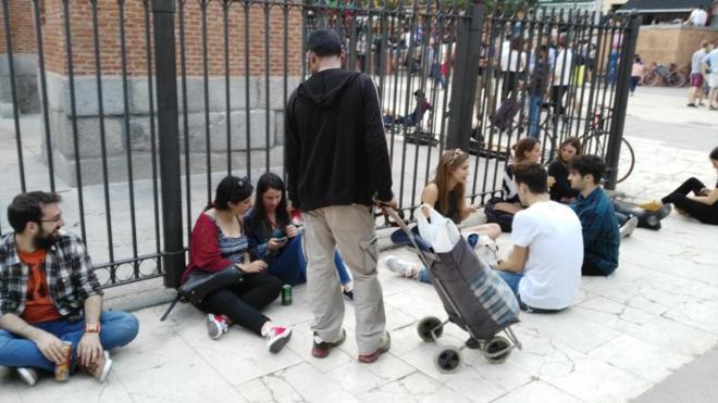 Noche Madrid denuncia la impunidad de los lateros en Madrid.